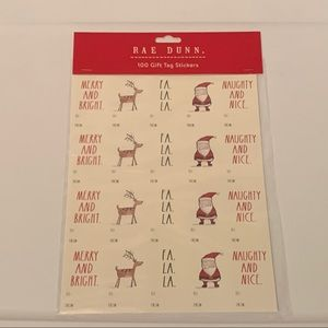 Rae Dunn Pack of 100 Holiday Gift Tag Stickers